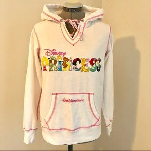 Disney Parks Princess hoodie white and pink M